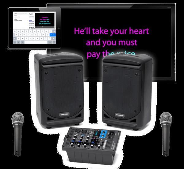 real karaoke machine system 300 watt